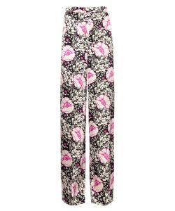 Duro Olowu | Zanzibar Flower-Print Silk-Satin Trousers
