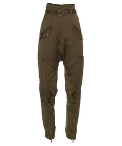 Roberto Cavalli | Relaxed-Leg Dropped-Crotch Satin Trousers