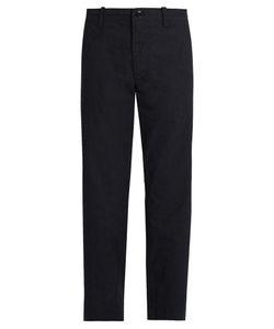 Y'S BY YOHJI YAMAMOTO   Mid-Rise Slim-Leg Cotton Trousers