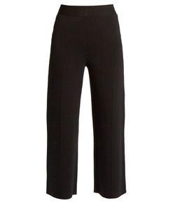 Roland Mouret | Redan Birdseye-Knit Wide-Leg Trousers