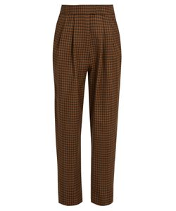 Isa Arfen | Checked Wool Cropped Trousers