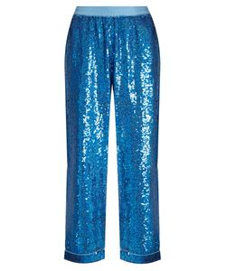 Ashish | Sequin-Embellished Wide-Leg Cotton Trousers