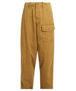 Y'S BY YOHJI YAMAMOTO | Patch-Pocket Cropped Trousers
