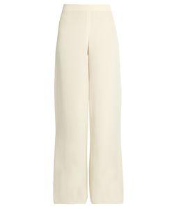 RYAN ROCHE | Wide-Leg Silk Trousers