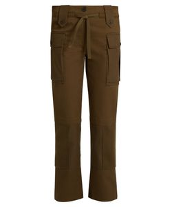 Alexander McQueen | Patch-Pocket Straight-Leg Cotton-Twill Trousers