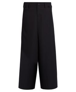 YOHJI YAMAMOTO REGULATION | Dropped-Crotch Cropped Wool Trousers