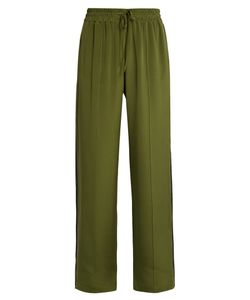 SERENA BUTE | Wide-Leg Silk Crepe De Chine Trousers