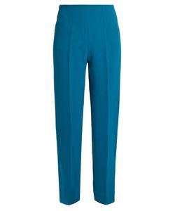 Emilia Wickstead   Arabella Wool-Crepe Slim-Leg Trousers