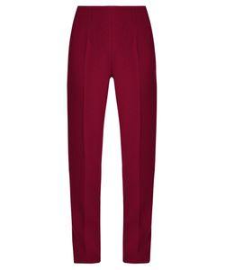 Emilia Wickstead | Arabella Wool-Crepe Slim-Leg Trousers