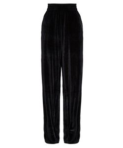 VETEMENTS | Velour Dropped-Crotch Wide-Leg Trousers