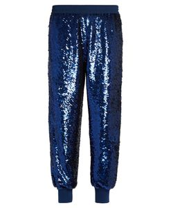 Ashish | Sequin-Embellished Zip-Seam Silk Trousers