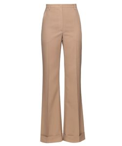 Nina Ricci | Wide-Leg Turn-Up Wool Trousers