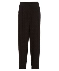 Alexander McQueen | Fil Coupé Embroidered Crepe Trousers