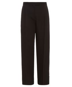 Alexander McQueen | Wool And Silk-Blend Frayed-Edge Trousers