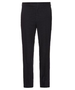 Paul Smith | Checked Slim-Leg Wool And Linen-Blend Trousers