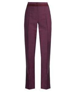 Bottega Veneta | High-Waisted Straight-Leg Wool-Blend Trousers