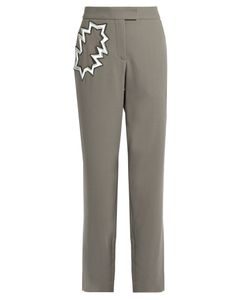 Christopher Kane | Smash-Pocket Wool-Crepe Trousers