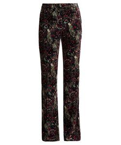 Roberto Cavalli | Morris-Print Velvet Trousers