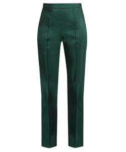 Rosie Assoulin | Oboe Silk-Faille Slim-Fit Trousers