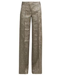 RACIL | Libra Wide-Leg Brocade Trousers