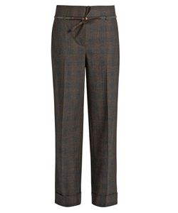 Brunello Cucinelli | Prince Of Wales-Checked Stretch-Wool Trousers
