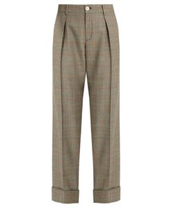 Gucci | Prince Of Wales-Checked Wool Trousers