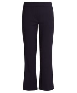 OSMAN | Audrey Cropped Kick-Flare Wool-Blend Trousers