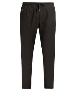 Dolce & Gabbana | Wool And Cotton-Blend Track Pants