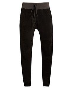 LONGJOURNEY   Aa Slim-Leg Cotton-Velvet Track Pants