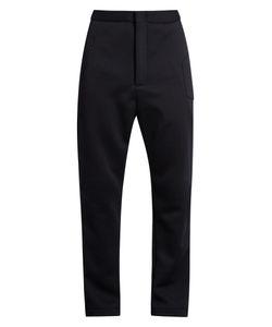 LONGJOURNEY | Zip-Front Herringbone Wool Track Pants