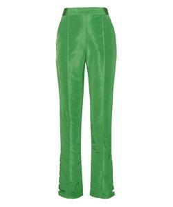 Rosie Assoulin   Buttoned-Cuffs Silk Trousers