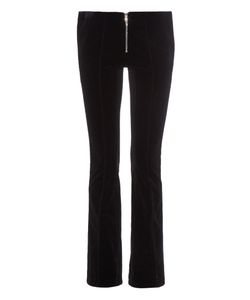 THOMAS TAIT | Zip-Front Flared Velvet Trousers