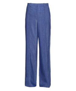 Vince | High-Rise Wide-Leg Chambray Trousers