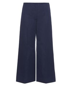 Sonia Rykiel | Wide-Leg Cotton And Linen-Blend Trousers