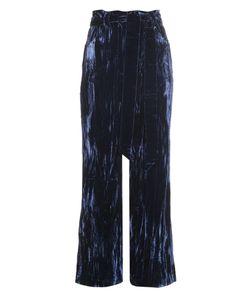 WALES BONNER | Prosper Crushed-Velvet Flared Trousers