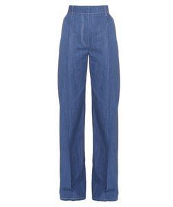 Sonia Rykiel | Wide-Leg Cotton-Chambray Trousers