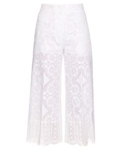 HILLIER BARTLEY | High-Rise Wide-Leg Lace Trousers
