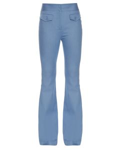 Adam Lippes | Flared Stretch-Cotton Trousers