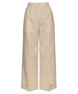 HILLIER BARTLEY | Wide-Leg Camel-Canvas Trousers