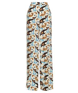 Etro | Wide-Leg Abstract-Print Silk Trousers