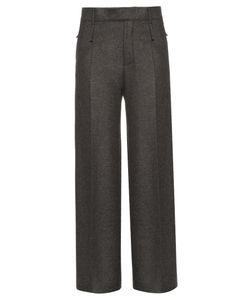 Calvin Klein Collection | Huranal Wide-Leg Flannel Trousers