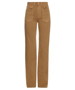 See By Chloe | High-Rise Flared Cotton-Canvas Trousers
