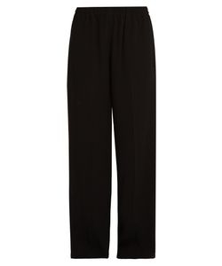 Vince | High-Waisted Wide-Leg Crepe Trousers