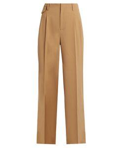 Nili Lotan   Gia Wide-Leg Twill Trousers