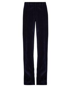 Stella Jean | Ascoltare Wide-Leg Velvet Trousers