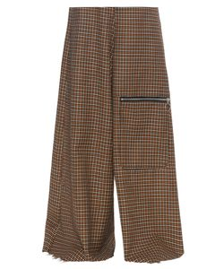 Marques Almeida | Wide-Leg Hounds-Tooth Wool Trousers