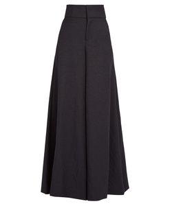 Marni | High-Rise Wide-Leg Twill Trousers