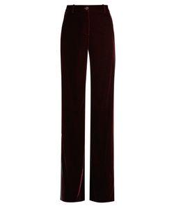 Roberto Cavalli | High-Rise Wide-Leg Velvet Trousers