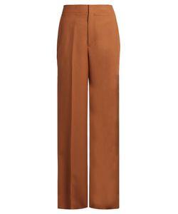 Helmut Lang | Wide-Leg Wool-Twill Trousers