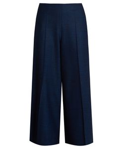 Maison Margiela | Mid-Rise Wide-Leg Stretch-Wool Long Culottes